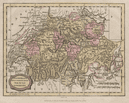 Switzerland with its Subjects & Allies from the best authorities BARLOW 1807 map